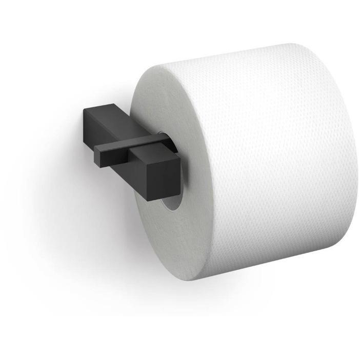 ZACK Carvo Toiletrolhouder 16,5x10x2,6 cm Zwart