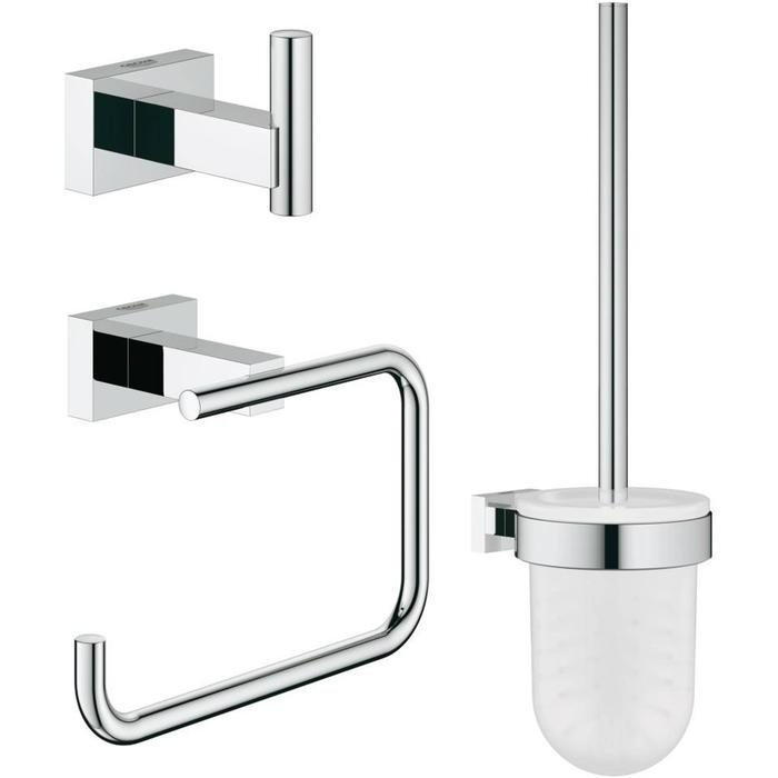 Grohe Essentials Cube toilet accessoireset 3-in-1 Chroom