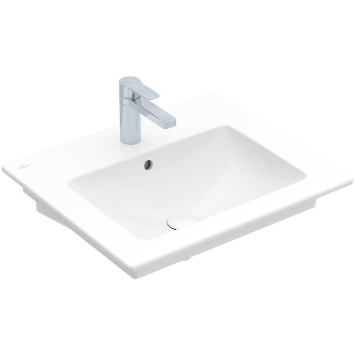 Villeroy & Boch Venticello meubelwastafel 60x50cm 1 kraangat met overloop wit
