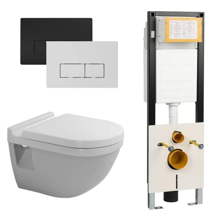 Duravit Starck 3 combipack toiletset wit / WBRN set