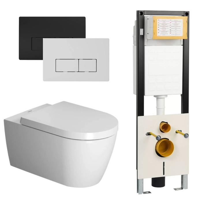 Duravit Me By Starck Wondergliss Rimless Wit / WBRN set