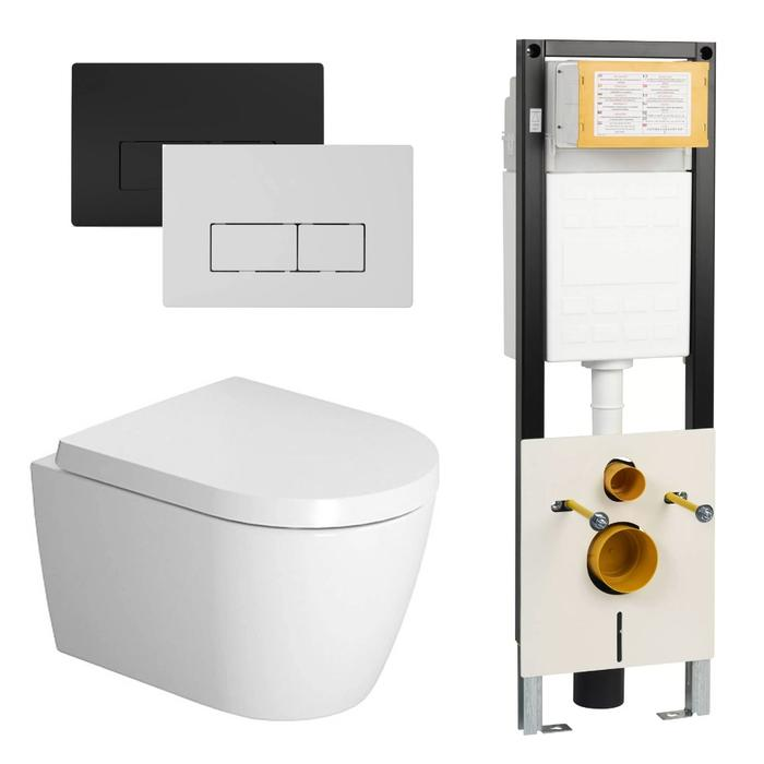 Duravit Me By Starck Compact Rimless wit / WBRN set