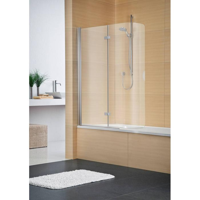 Sealskin Duka Multi vouw-pendel badwand 2-dlg rechts 95(B)x150(H) cm zilver hoogglans chinchilla glas