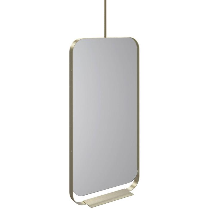 Thebalux Contour Spiegel met planchet 50x15,2x100 cm Messing