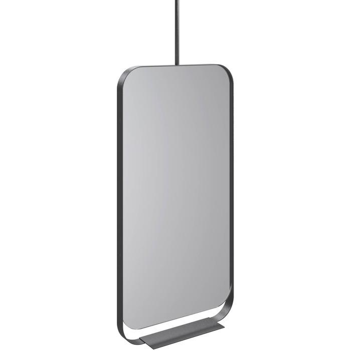Thebalux Contour Spiegel met planchet 50x15,2x100 cm Zwart