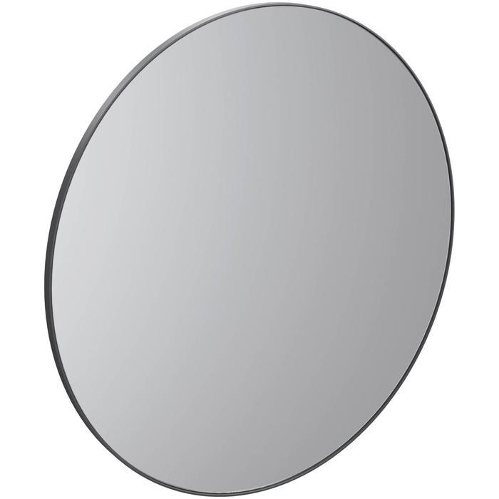 Thebalux Round B&W Ronde spiegel Ø 100x3,6 cm Zwart