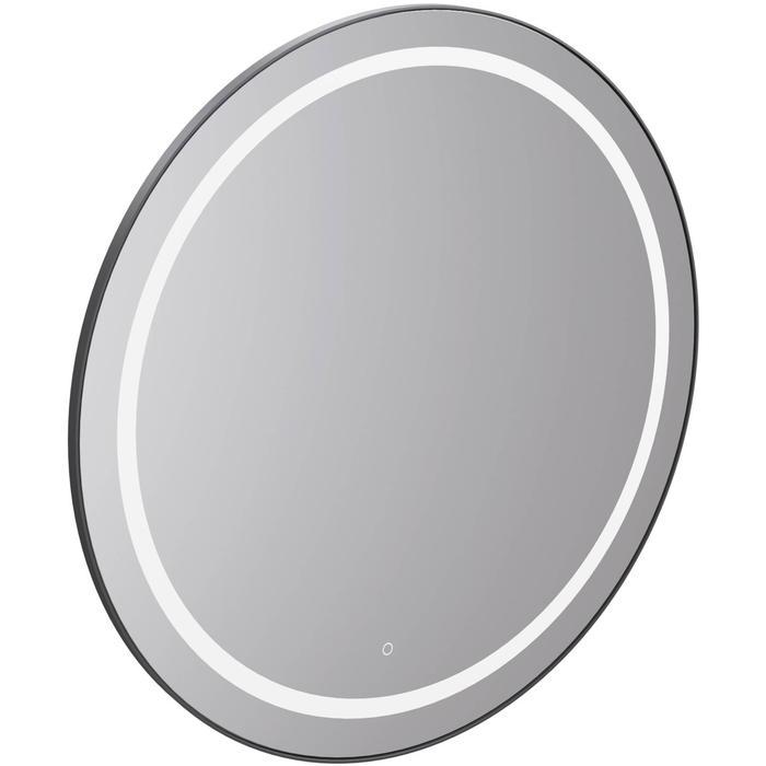 Thebalux Round Luxe Ronde spiegel Ø 60x3,6 cm Zwart