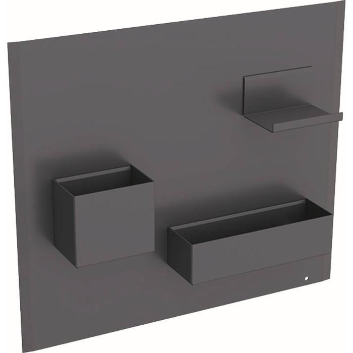 Geberit Acanto Magneetwand met accessoires 44,9x7,5x38,8 cm Lava/Lava