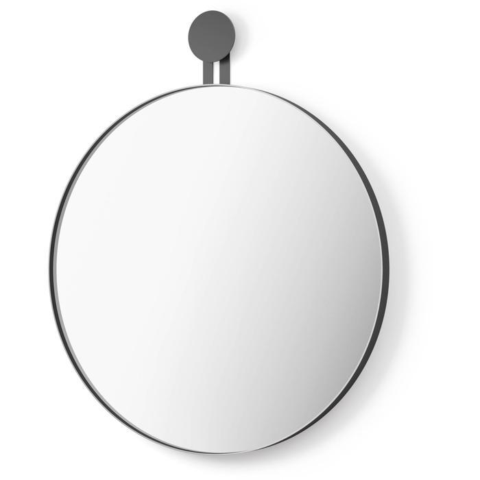 ZACK Morma Ronde spiegel ø 50 cm Zwart