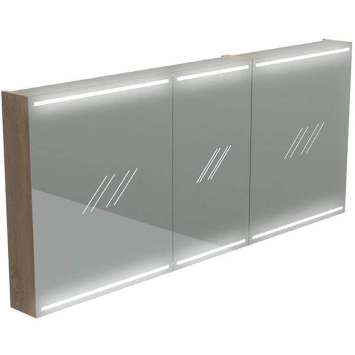 Thebalux Deluxe Spiegelkast 70x140x13,5 cm Zijdeglans Wit