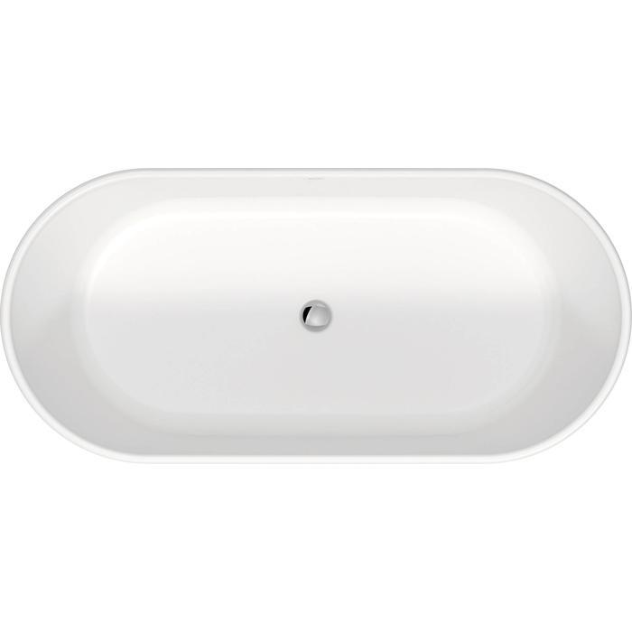 Duravit D-Neo vrijstaand bad met overloop 160x75x47,5cm Mat wit