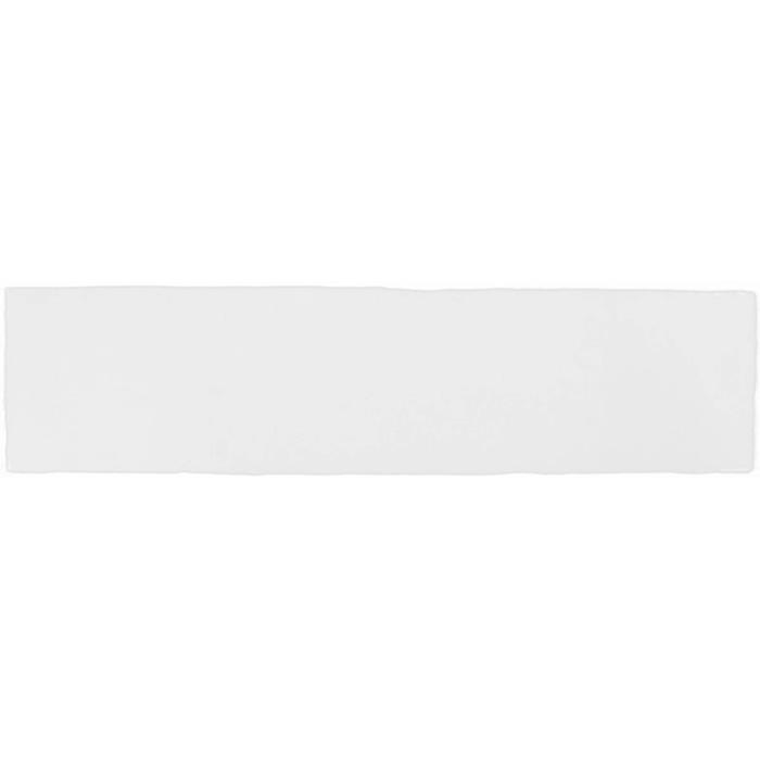 Wandtegel Terre d'Azur Gerona 7,5x30x- cm Wit 0,5M2