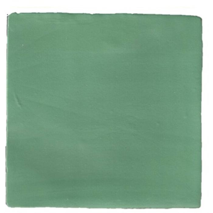 Vloertegel Terre d'Azur Madelaine 13x13 cm  Green 0,5 M2