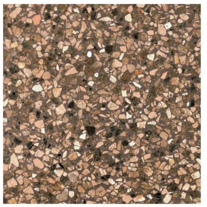 Vloertegel Terre d'Azur Granito 40x40x1,4 cm Bruin 1M2