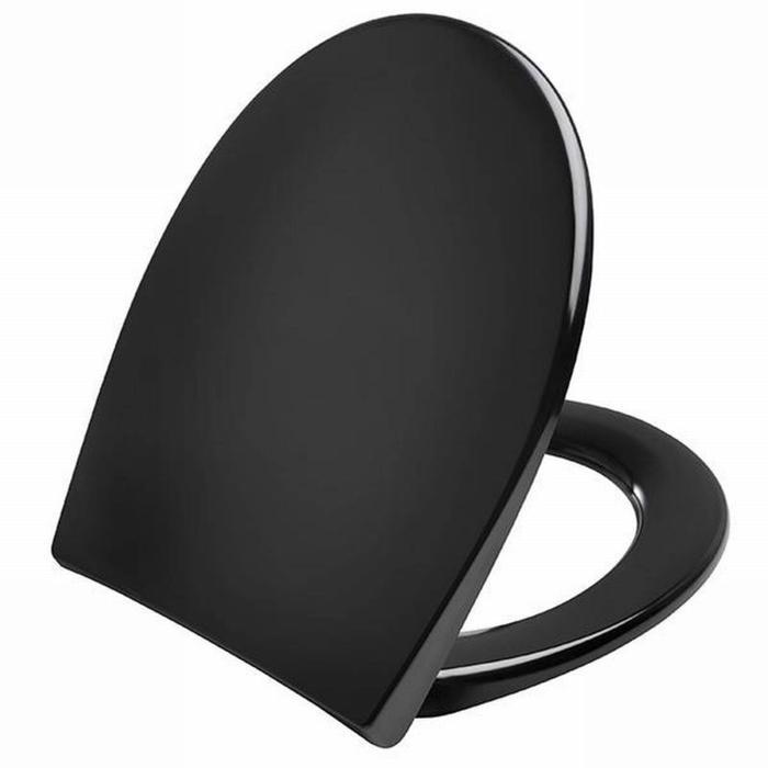 Pressalit Scandinavia Plus zitting softclose/quickrelease d05999 RVS scharn. Zwart