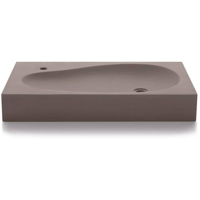 Bathco Waskom Beranga Bathco Waskom 80x45x12 cm Cemento