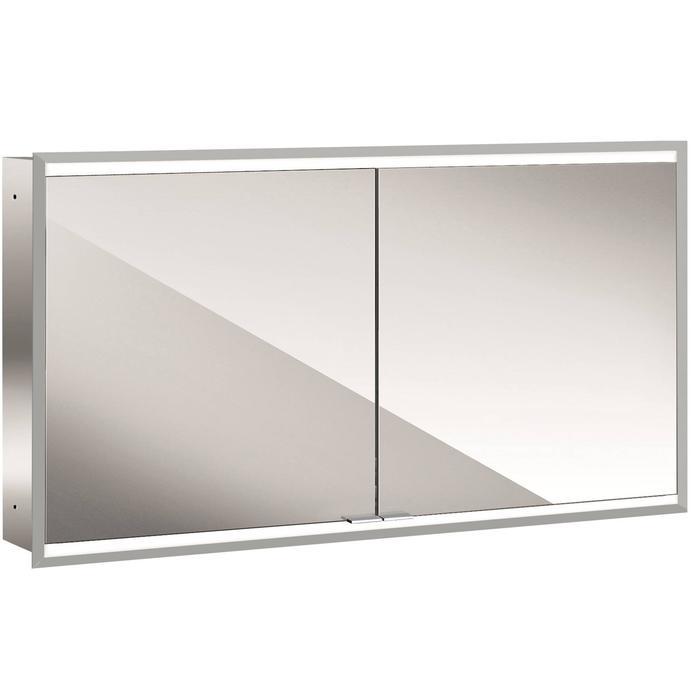 Emco Prime 2 LED Spiegelkast 2 deuren inbouw 130x70 cm