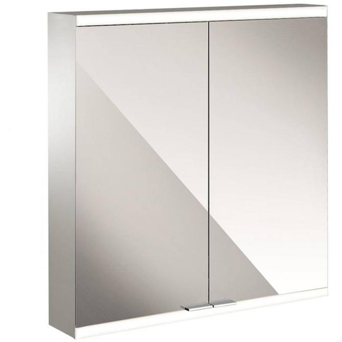 Emco Prime 2 LED Spiegelkast 2 deuren opbouw 60x60 cm