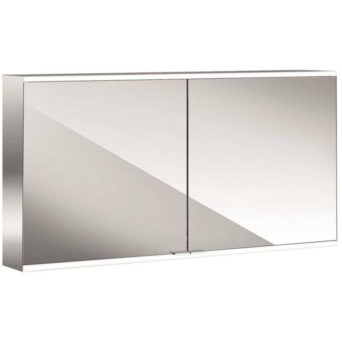 Emco Prime 2 LED Spiegelkast 2 deuren opbouw 130x60 cm
