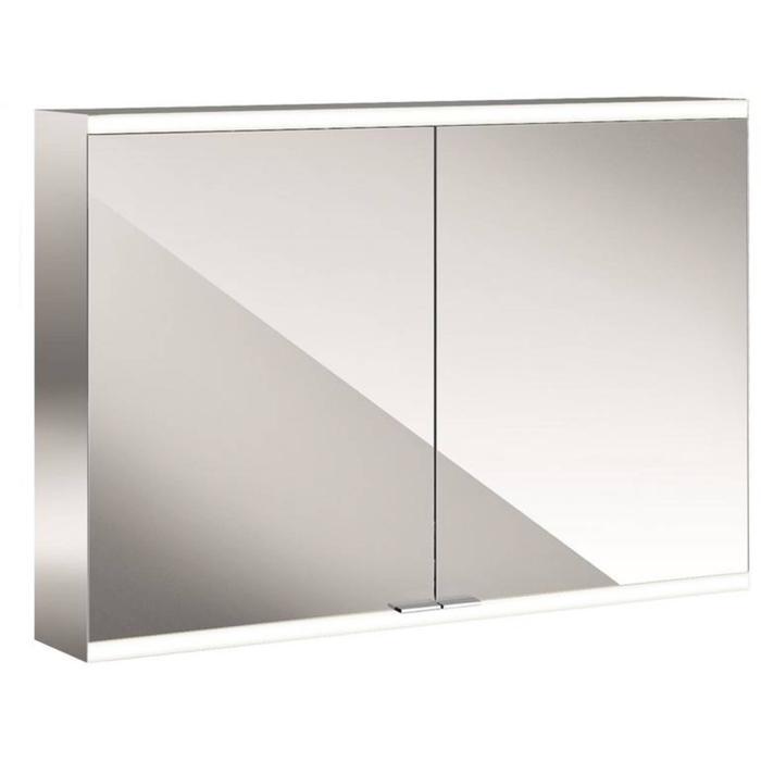 Emco Prime 2 LED Spiegelkast 2 deuren opbouw 100x60 cm Wit