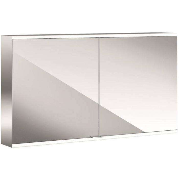 Emco Prime 2 LED Spiegelkast 2 deuren opbouw 120x60 cm Wit
