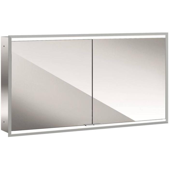 Emco Prime 2 LED Spiegelkast 2 deuren inbouw 130x60 cm Wit