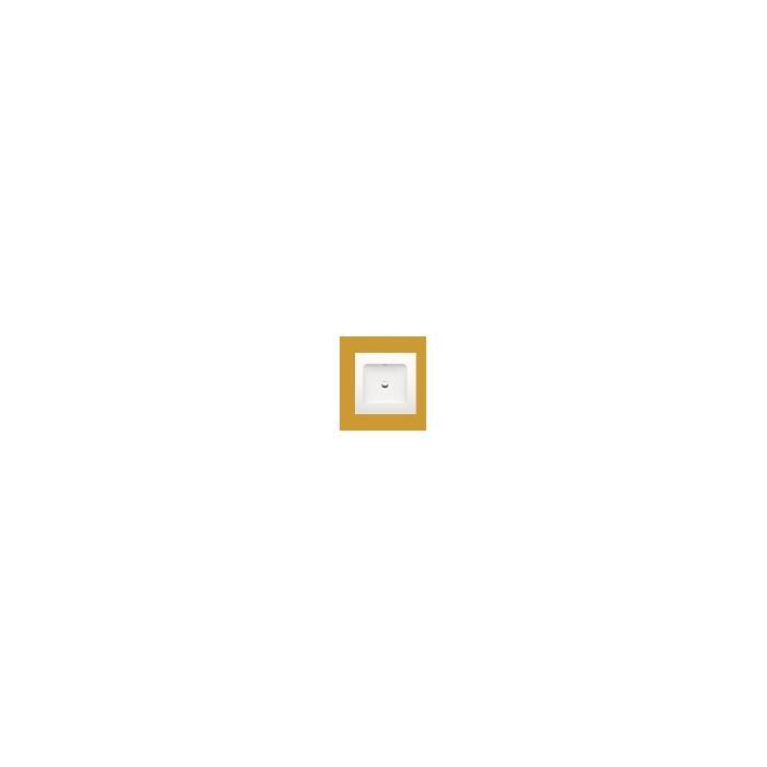 Bette One opbouwwastafel 53x53cm zonder kraangat met overloop wit