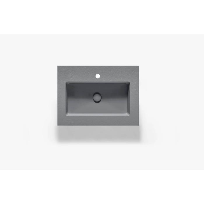 Ben Avira A1 wastafel Akron 60,3x45x1,3cm cemento (cement grijs)