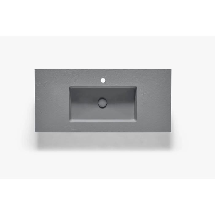 Ben Avira A1 wastafel Akron 100,3x45x1,3cm cemento (cement grijs)