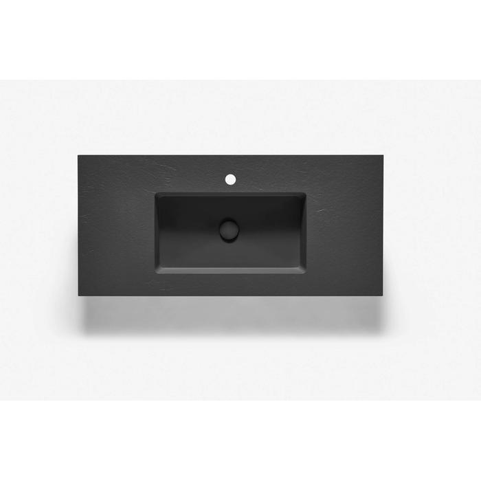 Ben Avira A1 wastafel Akron 100,3x45x1,3cm negro (zwart)