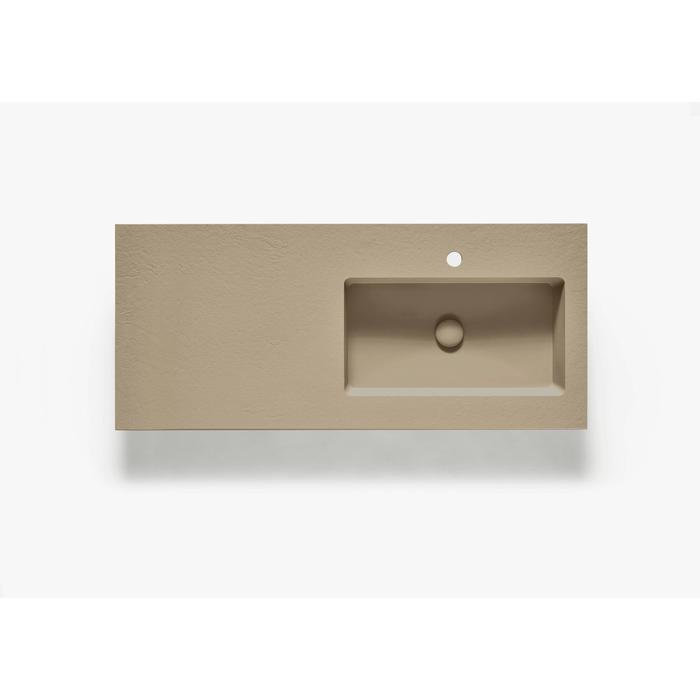 Ben Avira A1 wastafel Akron kom rechts 120,3x45x1,3cm beige