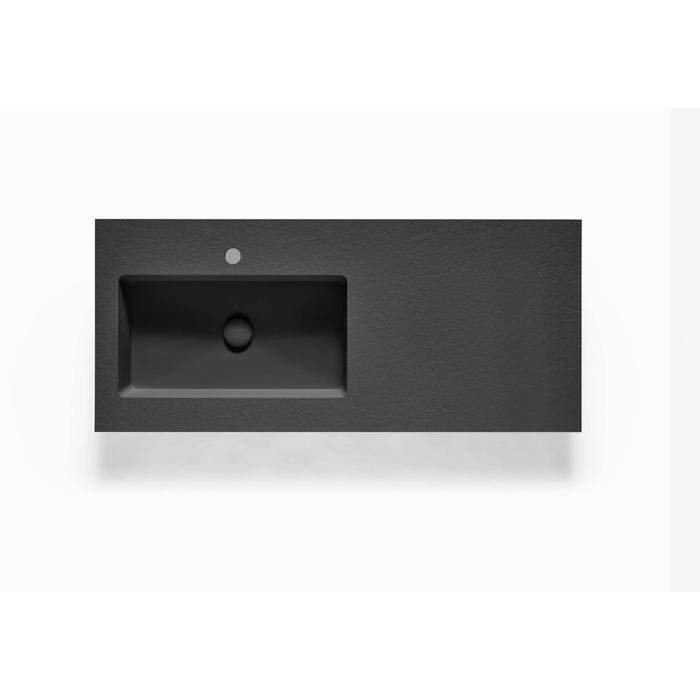 Ben Avira A1 wastafel Akron kom links 120,3x45x1,3cm negro (zwart)