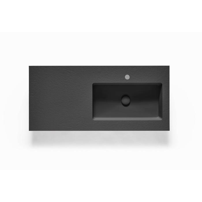 Ben Avira A1 wastafel Akron kom rechts 120,3x45x1,3cm negro (zwart)