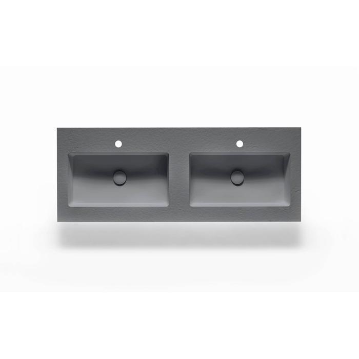 Ben Avira A1 wastafel Akron 120,3x45x1,3cm cemento (cement grijs)