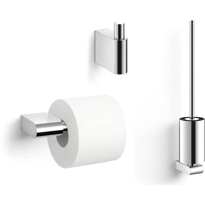 ZACK Atore toilet accessoiresset 3-in-1 RVS Glans