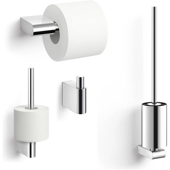 ZACK Atore toilet accessoiresset 4-in-1 RVS Glans