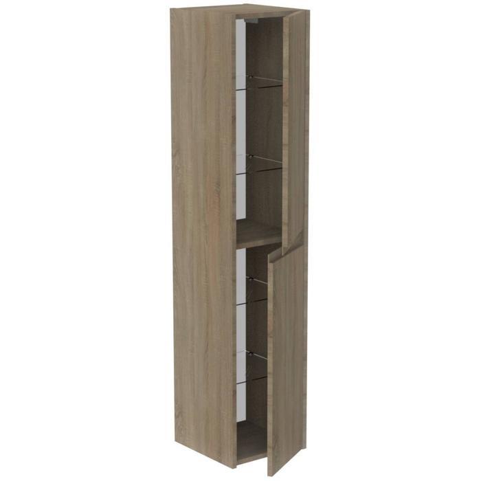 Thebalux Allure Hoge Kast 35x35x165 cm Zijdeglans Zwart