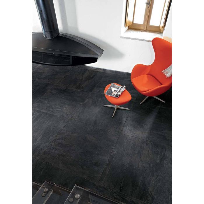 Vloertegel Rex Ardoise 80x80x1 cm Noir 1,28M2