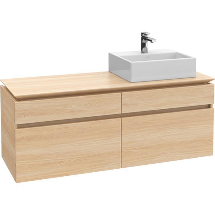 Villeroy & Boch Legato Wastafelonderkast 140x50x55  cm Santana Oak