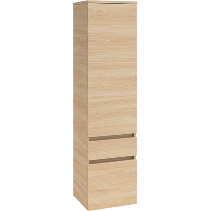 Villeroy & Boch Legato kast hoog 40x35x155 cm. deur rechts met 1 lade Santana Oak