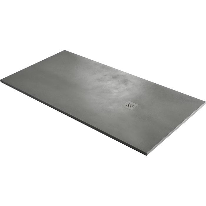 Acquabella Base Douchevloer Beton 90x120x3 cm Cemento