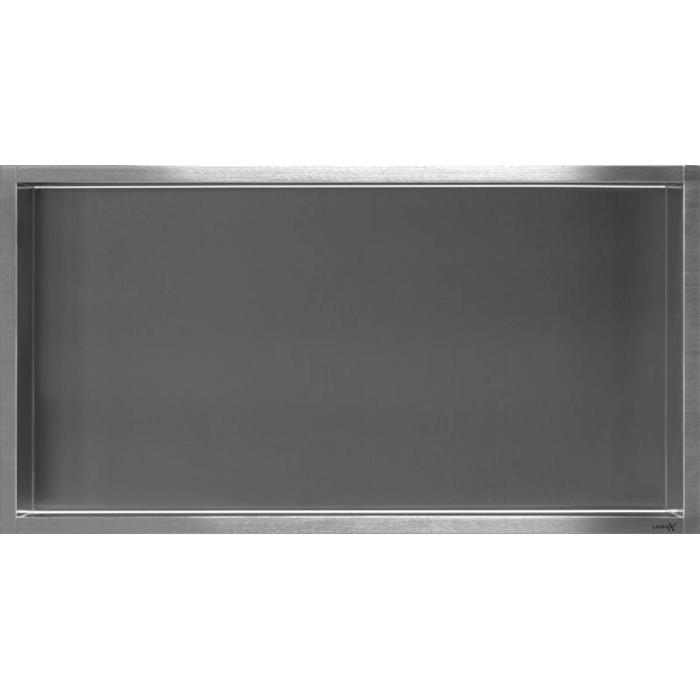 Looox Box inbouwmodule nis 60 x 30 cm. RVS Geborsteld