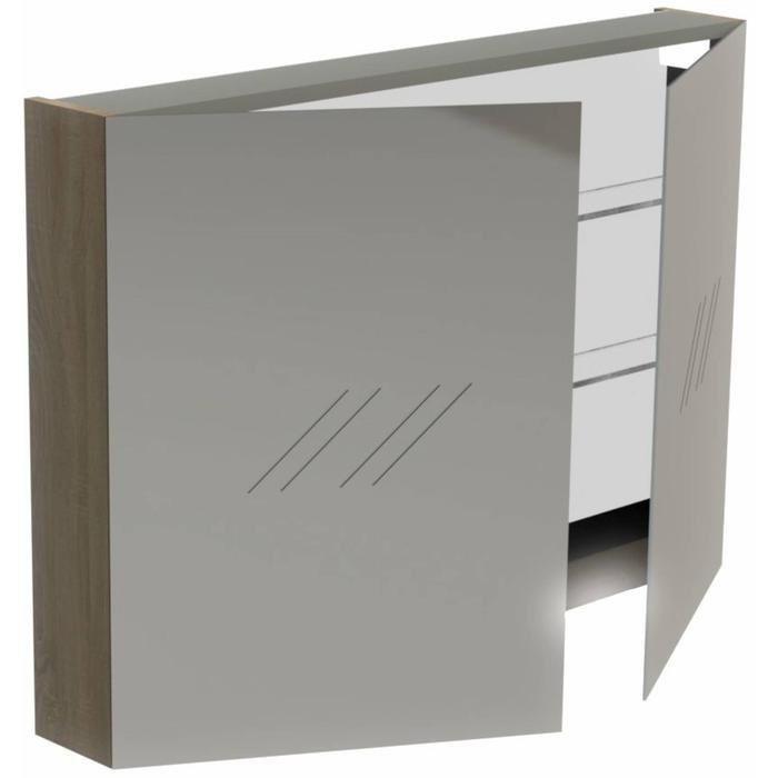 Thebalux Basic Spiegelkast 70x100x13,5 cm Authentic Oak