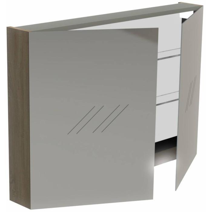 Thebalux Basic Spiegelkast 70x100x13,5 cm Antraciet Mat