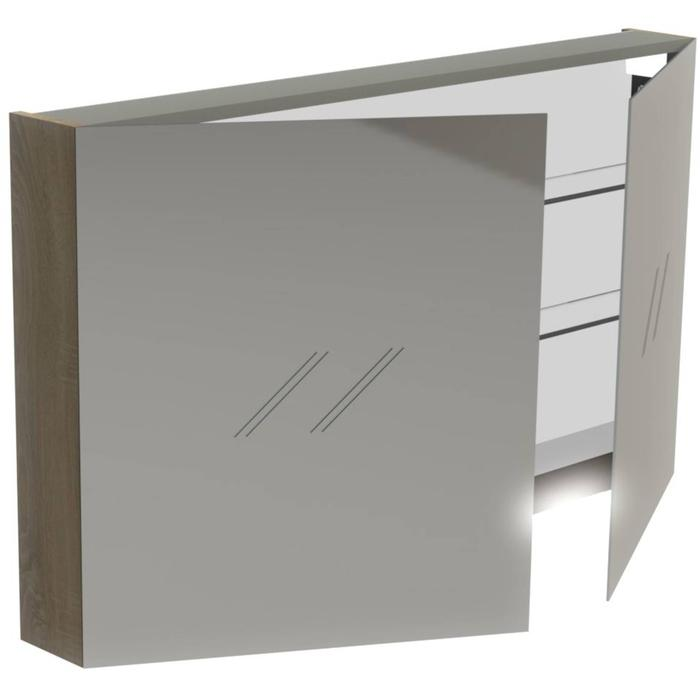 Thebalux Basic Spiegelkast 70x120x13,5 cm Authentic Oak