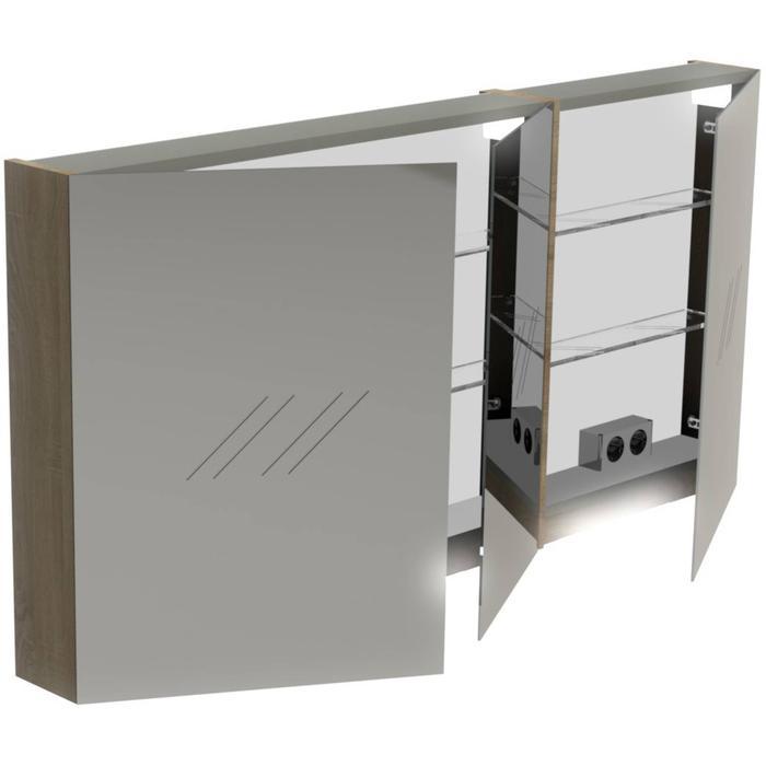 Thebalux Basic Spiegelkast 70x140x13,5 cm Antraciet mat