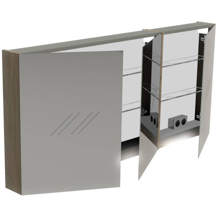 Thebalux Basic Spiegelkast 70x150x13,5 cm Nebraska Eiken