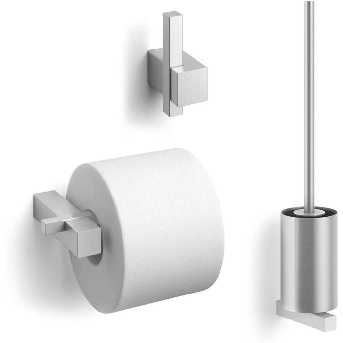 ZACK Carvo toilet accesoires set 3-in-1 rond RVS