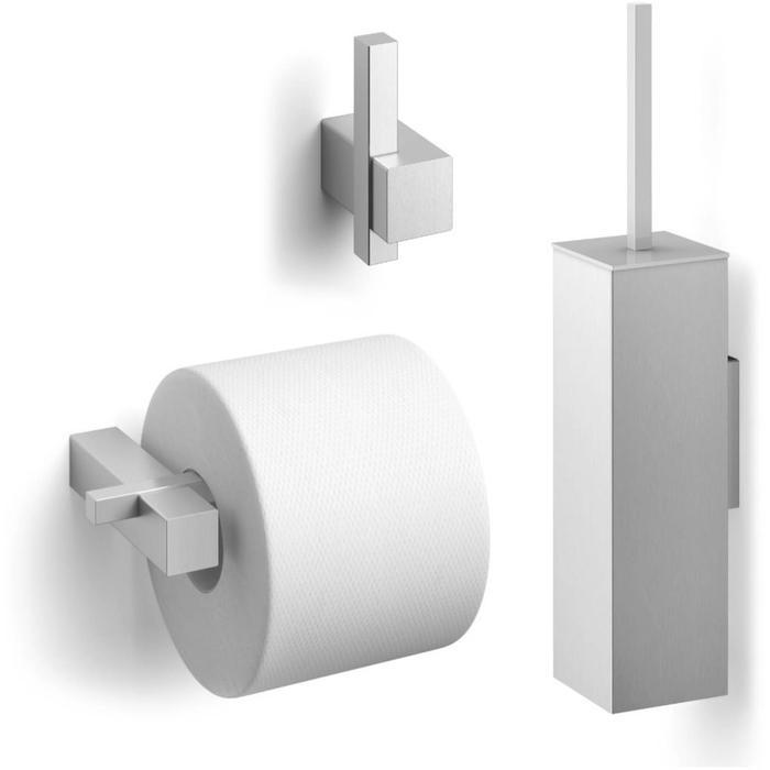 ZACK Carvo toilet accesoires set 3-in-1 vierkant RVS