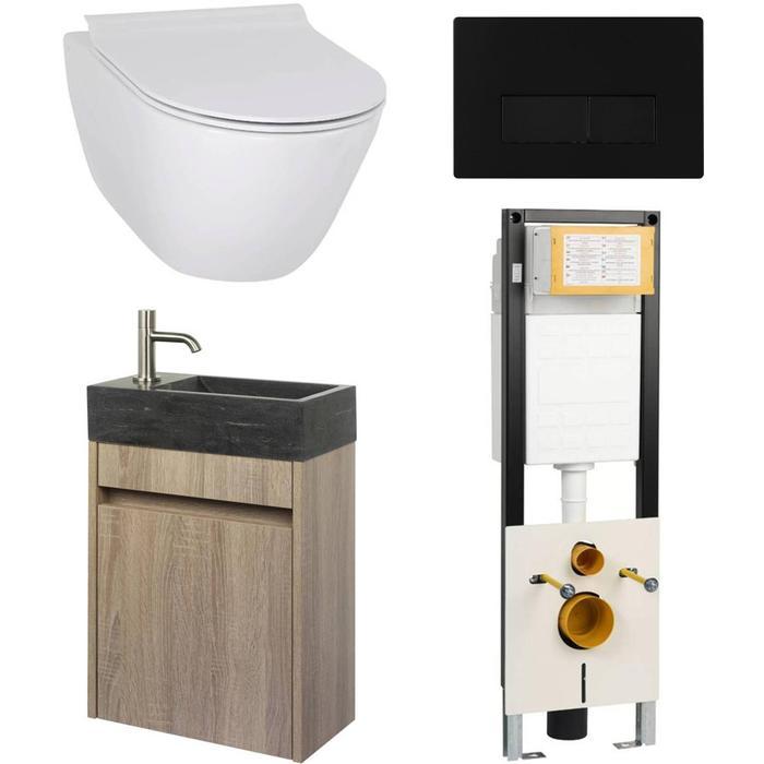 Combideal toiletruimte Ben Segno/Venetia Xtra glaze+ Free flush links wit